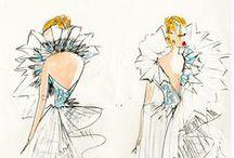 Croquis sur mesure / Croquis de robes de mariée dessinées par Isabelle Beaumenay Joannet