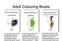 Adult Colouring Books - Landscapes - Patterns - Objects / Colouring books for adults - Landscapes, Patterns and A Compilation of Objects. - Designs, Pictures.
