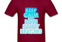 Summer fun and Beach themes / Showing summertime designs I created and items for sale on Zazzle and Spreadshirt.