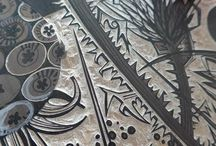 Lino Gravure, lino cut, lino snijwerk