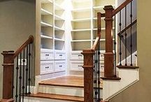 Stairs, Staircases and Storage Ideas / Staircases, stair railings, stairs and anything that as to do with steps!  Also include storage ideas for a beautiful home.