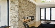 Stacked Rock/Stone Options / From travertine to other types of stone, stacked rock walls are beautiful.