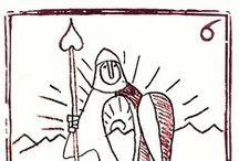 Auca de Artes y Oficios /  Un auca (voz catalana) o aleluya era una serie de estampas que se acompañaban de unos versos pareados al pie. Surgidas en la Francia del siglo XVI, las aucas tuvieron su mayor difusión durante el XVIII y se las considera precedentes de la historieta, cuando no una modalidad de ella.