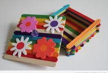 Kids Crafts: Craft Sticks / Basteln mit Bastelstäbchen / Eistielen  / by Mutti Mamma