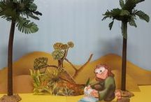 Bible Story Ideas for the Hands on Teacher / Creative ideas for #SundaySchoolteachers  using toys and #sets for telling a #Biblestory!