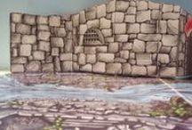 Bible Story Background Sets for Preschool Church /  #Biblestorybackgrounds made from #repurposedmaterials.
