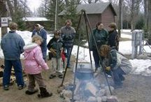 Maple Tapping For Kids / It's great to get kids off the couch, outside, and learning about the fun hobby of tapping maple trees. Their smiles are contagious when they see the sap running and the sweet taste of the syrup which they made tastes even better than store bought.