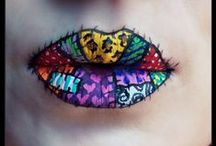 Faces / Some seriously talented artists and their amazing work on faces (and lips LOL) and some face pics that I just had to include....soooooo wish I had the talent to do makeup like this.  How fun would that be, huh? / by Melody Allega