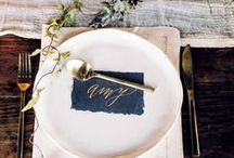 Place Settings From Aisle Society / Place Settings and Wedding Table Decor