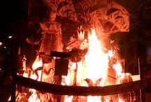 Un sueño de la noche de San Juan / Cuaderno de procesos para la creación de una hoguera sanjuanera de cartón madera y papel. Junio de 2016, Falla del Parotet, Valencia, España.