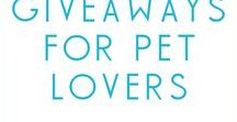 Giveaways for Dogs & Cats / Giveaways for pets and pet lovers.