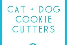 Dog- and Cat-Themed Cookie Cutters / Cookie cutters for dog and cat lovers (and fun things to make with those cookie cutters!)