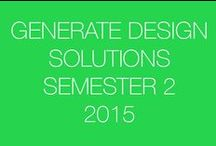 Generate Design Solutions: Sem 2-2015 / This board is a resource for SketchUp students to share their design ideas with others.