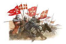 LES CHEVALIERS HOSPITALIERS / Un chevalier hospitalier ou frère chevalier est le premier grade des moines-soldats de l'ordre de Saint-Jean de Jérusalem.  Après la perte des états latins d'Orient et l'installation de l'ordre de Saint-Jean de Jérusalem à Rhodes, les chevaliers de l'Ordre prennent le titre de « chevalier de Rhodes ». Lors de la souveraineté de l'Ordre sur Malte le titre est transformé en « chevalier de Malte »
