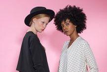 Fall Winter 15-16 Stella and Lori / #fashion #style #photoshoot #collection #winter #fall #pink #oversized #freeflow #dress #modern #clothing #womensfashion #accessories #leather #handbag