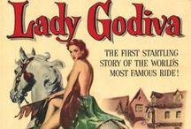 LADY GODIVA / Godiva  est une dame anglo-saxonne du XIe siècle, épouse du comte Léofric de Mercie. Sa vie est mal connue. Son nom est associé à une légende apparue plus d'un siècle après sa mort, selon laquelle elle aurait traversé les rues de Coventry à cheval, entièrement nue, afin de convaincre son époux de diminuer les impôts qu'il prélevait sur ses habitants. Bien que dépourvue de tout fondement historique, la chevauchée de Lady Godiva a inspiré de nombreux artistes.