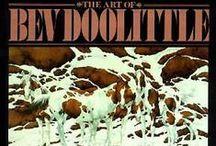 L'ART DE BEV DOOLITTE / Bev Doolittle (né le 10 Février, 1947) est une artiste américaine travaillant principalement l'aquarelle. Elle crée des peintures de l'Ouest américain qui comportent des thèmes de la vie amérindienne, les animaux sauvages, les chevaux et les paysages.