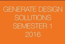 Generate Design Solutions: Sem 1-2016 / This board is a resource for SketchUp students to share their design ideas with others.