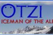 OTZI L'HOMME DES GLACES / Ötzi  est le nom donné à un être humain momifié naturellement (congelé et déshydraté) découvert fortuitement le 19 septembre 1991 à 3 210 mètres d'altitude, à 92 mètres de la frontière entre l'Italie et l'Autriche dans le glacier du Hauslabjoch  dans les Alpes de l'Ötztal (d'où le surnom d'Ötzi). Il date du Chalcolithique (4 546 ± 15 ans BP, avant calibration).