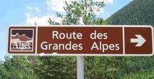 SUR LA ROUTE DES GRANDES ALPES / La route des Grandes Alpes est un itinéraire touristique de 720 kilomètres qui traverse les Alpes françaises du nord au sud en passant par 17 cols de montagne dont 6 à plus de 2 000 mètres d'altitude1. Elle part de Thonon-les-Bains (sur le lac Léman) pour rejoindre  Nice  (source: Wikipédia)