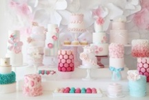Party Ideas. Sweets Table♥  / Tablescape.Party Decoration / by Pui Yie