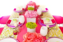 Green & Pink Theme Table Decor
