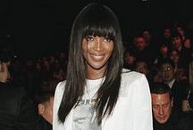NAOMI CAMPBELL  |  EXTRAORDINARY STYLE / Style Signature: Glossy hair, sleek style with leather and animal prints, statement shoes/boots. Confident style with a dangerous edge.