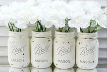 Mason Jars  / These darlin' Mason Jar creations are sweet as a peach! / by Martha White