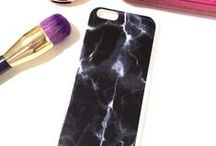 MARBLE PHONE CASES. / Phone cases with unique marble designs and prints // www.izzycalifornia.com / by Izzy California