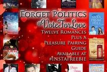 #VoteforLove #instafreebie romance giveaway / This election season getting you down? Then check out this giant romance giveaway until November 12 and make your heart happy again! http://tellulahdarling.com/vote-for-love/ for details