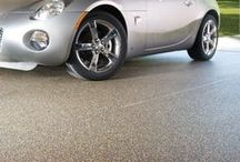 Great Garage Floors / Perfect for garages, Nature Stone floors are anti-slip, stain resistant, and reduce tracked in dirt to your home. Our floors  cover cracked, stained, uneven concrete floors permanently with beautiful stone and epoxy flooring, Nature Stone flooring.