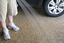 Cleaning a Nature Stone floor. / Cleaning Nature Stone flooring is easy, simply use a hose or pressure washer for outdoor applications and a wet/dry vac or steam mop for indoor.