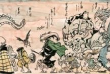 Japanese Monsters / Mythological creatures of a monstrous nature from Japan.