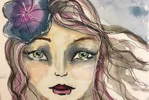Art journal love, mixed media and more / Art journaling, mixed media, canvas art, altered art by inspiring artists