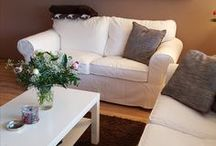 Wohnzimmer / So lebe ich - Wohnzimmer, Ikea, Massivholz, Dekoration, taupe, alpina, kupfer, Livingroom, Interior