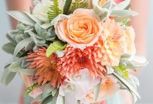 Wedding Decor/Design Inspiration / Coral and grey wedding fashion + accessories  Decor inspiration  Blush pink and gold design inspiration