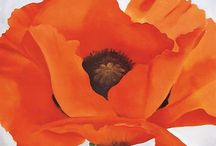Orange art / Paintings artists orange