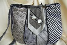 Sewing with Ties, suits and sweaters / Ties, neckties, men's suits, sweaters, reuse, up-cycle, repurpose, DIY, sew, sewing, handbags, bags