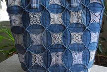 Sewing bags, jeans and denim / Bags, handbags, purses, up-cycle, recycle, re-purpose, jeans, denim, sew, sewing
