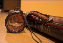Leather-Tubes for fishingrods, leatherflask / WELCOME TO THE MASTERLEVEL!!  The items in this folder is purely showcase items to show  amazing leather goods and braiding techniques. The braiding is insanely tight and take weeks to complete and the handles  have some trickery. Theese were created to top my skills and set my standard forever. The braid I used here is the Mexican basketweave/roundbraid.