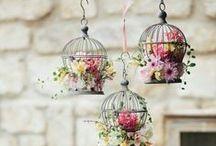 [F] Bird cage flower decorations