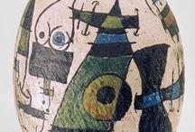 ceramic of painters / Picasso, Miro with Artigas, Barcelo...