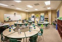 School Design / Designing places of education can be challenging, but a LOT of fun! We enjoy adding whimsical elements to make these spaces feel welcoming and playful.