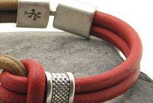 Deri takı vs vs. Leather jewelry /   Deri Leather 2