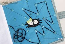 Sewing kids books and finger puppets