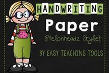 Easy Handwriting without Tears / This board has several adorable Handwriting without Tears paper that can be used in your classroom tomorrow! www.easyteachingtools.com