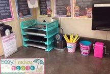 Easy Classroom  Organization / Classroom organization ideas for elementary and above!   These ideas are easy to implement in your classroom tomorrow!