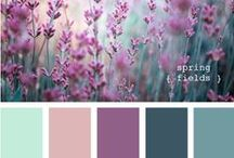 Colors that inspire me! / A collection of colors and textures that make me dream!