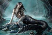 Mermaids, fairies, elves and dragons
