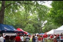 """Oxford, Mississippi Grove Tailgating / Oxford, Mississippi Grove Tailgating Services By The Pros. The """"Grove"""" is an 8-acre piece of land that sits in the heart of the University of Mississippi campus, and on football game days it is the tailgating spot for over 80,000 rowdy fans. Unlike most other schools in the SEC and across the country, at The University of Mississippi everybody """"Groves"""" (tailgates) in the same general area called the """"Grove"""". #TheGrove #OxfordMS #Tailgating"""